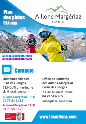 Plan des pistes hiver aux Aillons-Margériaz