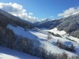 Vue du séjour de la vallée du Lindar, plein sud