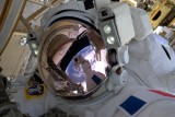 ESA astronaut Thomas Pesquet during his first spacewalk, on Friday 13 January 2017. Together with NASA astronaut Shane Kimbrough, he spent five hours and 58 minutes outside the Space Station to complete a battery upgrade to the outpost's power system.