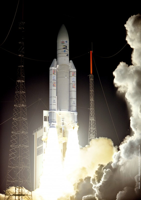 The European Space Agency's SMART-1 was one of three payloads on Ariane Flight 162